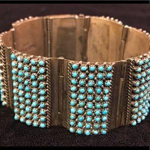 Jewelry - Zuni Turquoise Petit Point Bracelet - Haloo